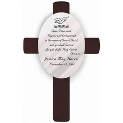 Acts 2:38 Personalized Baptism Cross