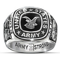 Men's Personalized Army Pride Ring