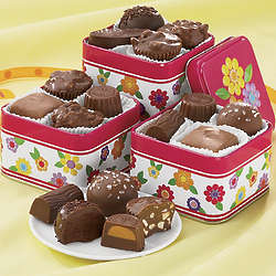 Chocolate Candy Sampler Trio Gift Tins