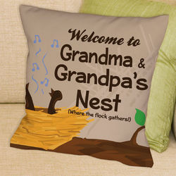 Personalized Welcome to the Nest Throw Pillow