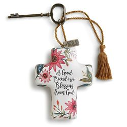Friend Blessings Cross Ornament