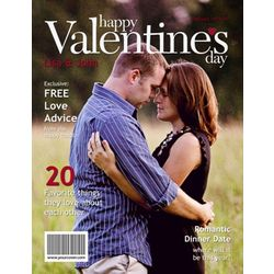 Valentine's Day Personalized Magazine Cover