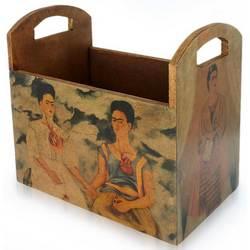 'Kahlo's Two Fridas' Decoupage Magazine Rack