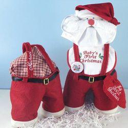 """""""Santa Panta"""" Baby's First Christmas Personalized Gift Set"""