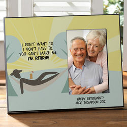 Personalized I'm Retired Photo Frame