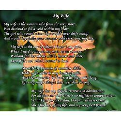 My Wife 8x10 Poem Print