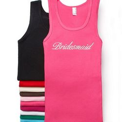 Crystal Bridesmaids Tank Top