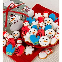 Fancy Decorated Snowtime Cookies