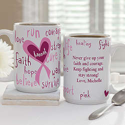 Inspirational Words Breast Cancer Awareness Coffee Mug