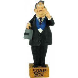 Lawyer on a Soapbox Bobble Figurine