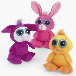 Plush Large-Eyed Easter Animals