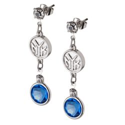Crystal Earrings with New York Knicks Logo Charm