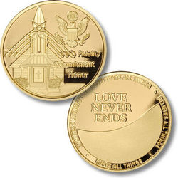 Fidelity Honor and Commitment Military Wedding Coin