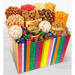 Popcorn and Sweets Bright Stripe Jumbo Sampler