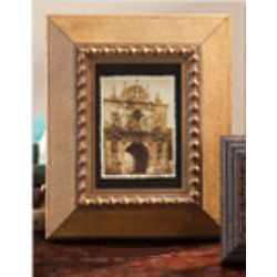 Aged Gilded Burl Wood Stain Frame
