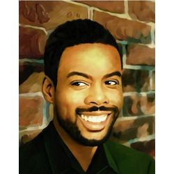 Chris Rock Oil Painting