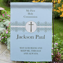 Personalized First Communion Garden Flag