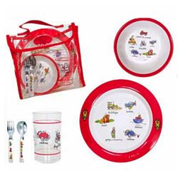 Baby's Transportation Lunchware Gift Set