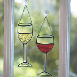 Stained Glass Wine Glasses