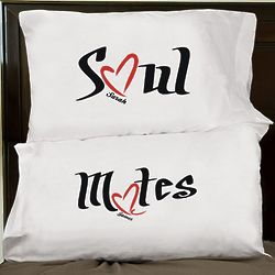 Personalized Soul Mates Pillowcase Set