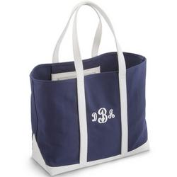 Polo Blue and White Tote