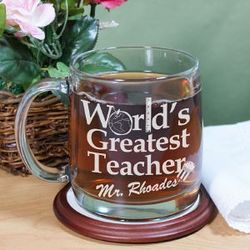 Personalized Teacher Glass Mug