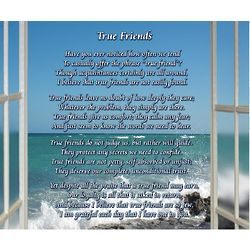 True Friends 8x10 Poem Print
