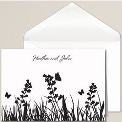 Butterfly Kisses Wedding Thank You Note