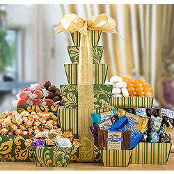 Sweets and Popcorn Gift Tower