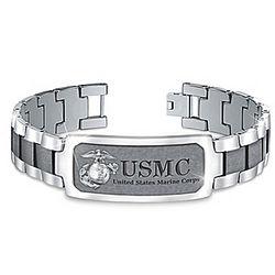 Personalized Semper Fi Marine Corps Bracelet