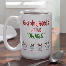 Large Personalized Little Dears Coffee Mug