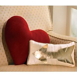 Heart and Arrow Pillows