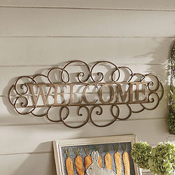 Rustic Metal Welcome Sign