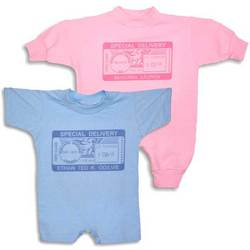 "Personalized ""Special Delivery"" Postmark Romper"