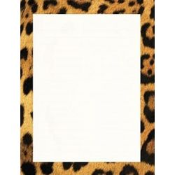 Leopard Print Stationery Paper