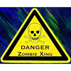 Zombie Xing Skull Sign