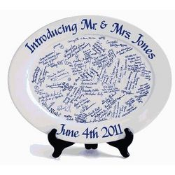 Personalized Signature Wedding Platter