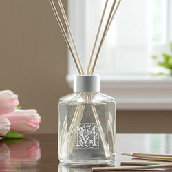 Personalized Floral Monogram Reed Diffuser