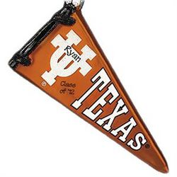 Personalized Texas Longhorns Pennant Glass Ornament