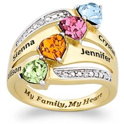 "Mother's ""My Family, My Heart"" Ring"
