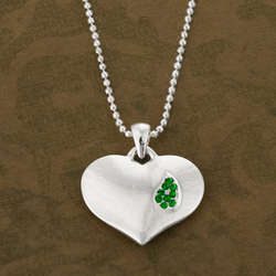 Irish Tear Of Remembrance Heart Pendant