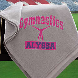 Personalized Girl's Sports Fleece Sweatshirt Blanket