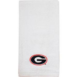 University of Georgia Embroidered White Tennis Towel