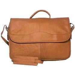 Vaquetta Leather Porthole Tan Briefcase