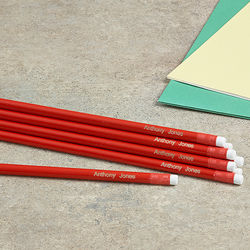 Back to School Personalized Red Pencils