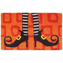 Witch's Shoes Coir Doormat