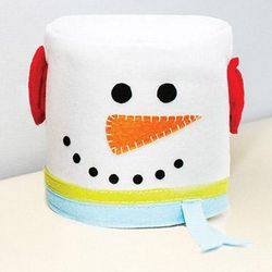Snowman Toilet Paper Cover Up
