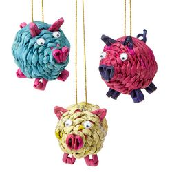Handcrafted Pig Ornaments