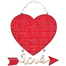 Heart with Love Arrow Wall Sign