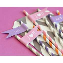 Personalized Bridal Flag Labels